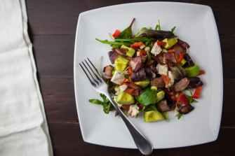 appetizer avocado bacon cuisine